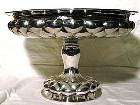 Large German Silver Center or Fruit Bowl