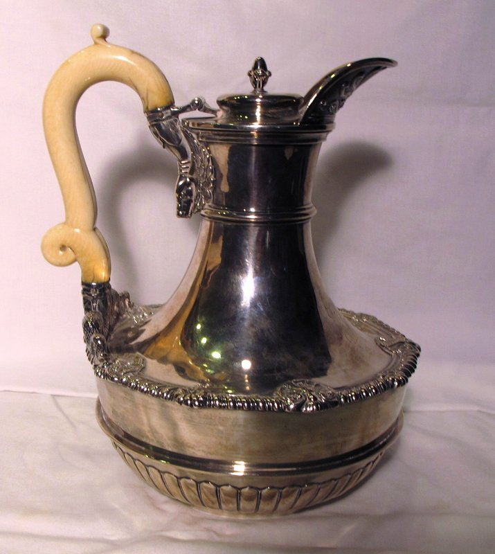 Paul Storr Silver Water Jug Double Ivory Handle