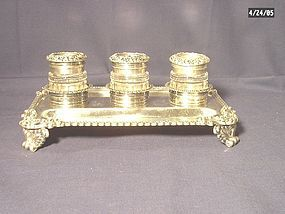 Georgian Sterling Silver Inkstand;  1795