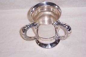 Tiffany Sterling Silver 3 Handle Loving Cup; 1896