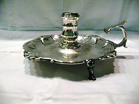 John Cafe Georgian Silver Tripod Chamberstick 1755