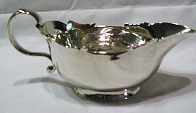 Rare Old Georgian Newcastle Silver Sauce Boat Cookson