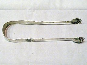Early American Coin Silver Sugar Tongs; Rockwell