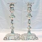 Hawksworth, Eyre; Georgian Style Silver Candlesticks