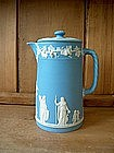 Wedgwood Light Blue Coffee or Chocolate pot