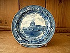 Wedgwood Blue and White Historical Plate