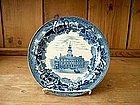 Wedgwood Blue and White Historical Plate.