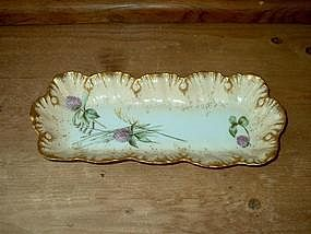 Limoges Thistle Pattern Tray