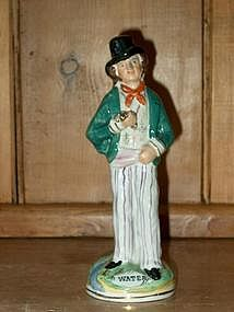 Staffordshire Temperance Figure; Gin/Water