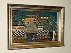 Oriental Diorama of a Village Scene