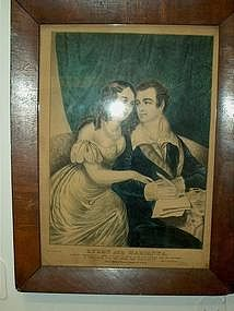 Nathanial Currier; Hand Colored Lithograph