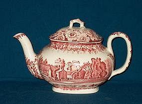 """Enoch Wood Teapot of """"Nunney Castle"""""""