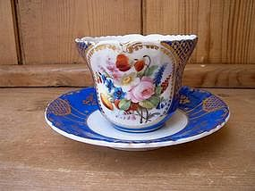 Old Paris Large Breakfast Cup and Saucer
