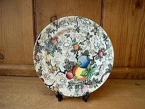 """Chintz plate;  """"Pomegranate""""  pattern"""