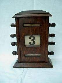 English Edwardian Oak Perpetual Calendar