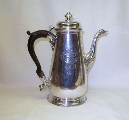 Georgian Sterling Silver Coffee Pot; Thomas Whipham. London, 1751