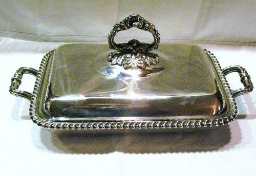 Matthew Boulton Old Sheffield Silver Plate Covered Entree Dish