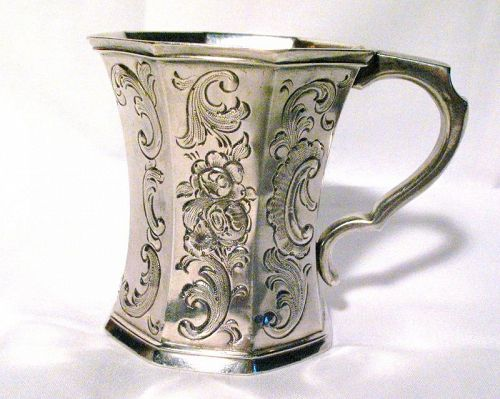 Early American Coin Silver Child's Mug; Gale & Hayden, New York