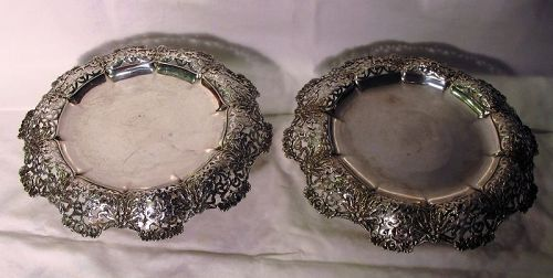 Pair Tiffany Sterling Footed Compotes or Tazzas