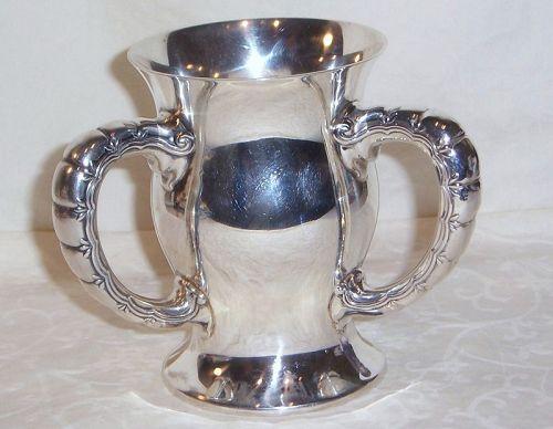 Tiffany Sterling Silver 3 Handle Loving Cup; 1896, Hamilton College