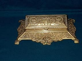 Victorian Brass Stamp Box