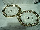 Pair of Staffordshire Dessert Dishes