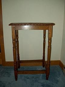 Victorian Carved Oak Parlor Stand