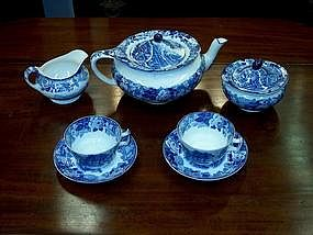 "Enoch Wood's ""English Scenery"" Tea Set"
