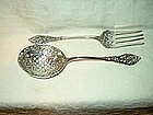 Sterling Silver Serving Set; Fork and Spoon