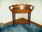 Victorian Style Oak Washstand