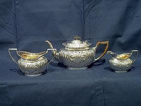 George V Silver Bachelors Tea Set