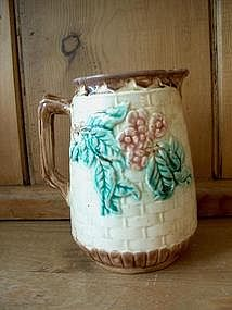 Majolica Basketweave pitcher