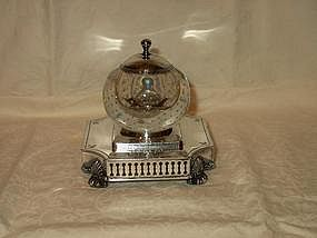 Pairpoint Bubble Glass Inkstand