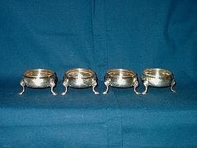George II Silver Open Salts; Set of Four-1760