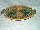 Majolica Platter; Banana Leaf Pattern