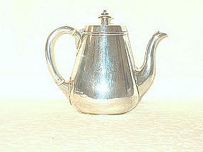 English Victorian Silver Hot Milk Jug
