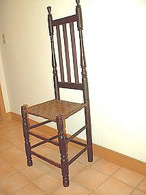 Bannister Back Chair; Eighteenth Century
