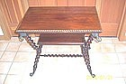 Merklen Brothers Mahogany Side Table