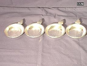 Herbst & Wassall Sterling Nut Dishes; Set of Four
