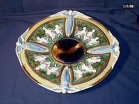 Wedgwood Majolica Plate; Angels and Cherubs