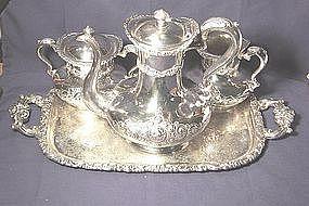 Meriden Britannia Silver Plate Tea Set with Tray