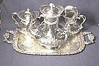 Meriden Britannia Silver Plate Tea Set with Tray