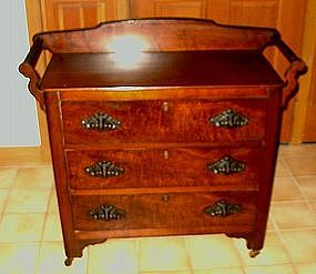American Victorian Chest and Washstand with Towel Bars