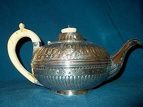 Georgian Sterling Silver Teapot; Ivory Handle