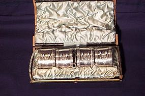 Sterling Silver Napkin Rings; Set of Four