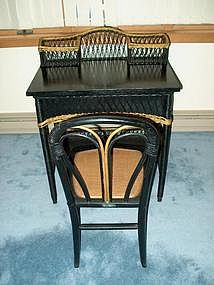 Heywood-Wakefield Wicker Desk Set