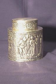 Silver Tea Caddy; German, Nuremberg; circa 1880
