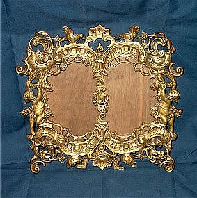 Victorian Brass Double Picture Frame
