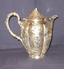 Silver Coffee Pot; Augsburg, Germany; 1860-1880
