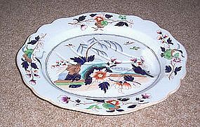 John Ridgway Large English Ironstone Platter 1830's